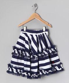Nautical White Daniella Skirt - Toddler & Girls #zulily #fall