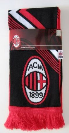 AC MILAN SOCCER TEAM OFFICIAL DOUBLE SIDED SCARF by Rhinox.  19.99 c3489ae7e08e1
