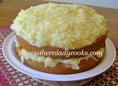 The Southern Lady Cooks, Seven UP cake with pineapple topping