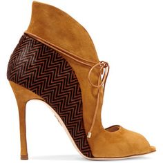 Chelsea Paris Zerin Suede and Printed Calf Hair Boots