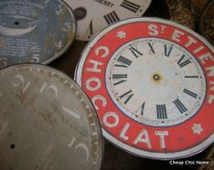 Cheap Chic Home: CD Clock Faces