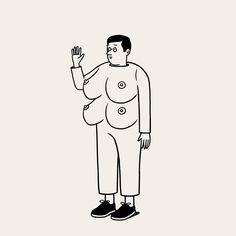 Dress code fail. #doublebreastedsuit Visual Puns, Visual Metaphor, Matt Blease, Fear And Loathing, Japanese Illustration, Creepy Art, Skateboard Art, Line Art, Art Drawings