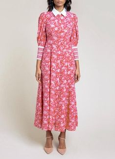 Kate Middleton wearing the Beulah London Calla dress in rose red floral Kate Middleton Dress, Kate Middleton Style, Silk Crepe, Silk Chiffon, Beulah London, Floral Evening Dresses, Beautiful Red Dresses, Floral Shirt Dress, Luxury Dress