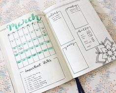 WEBSTA @ blank_space_bujo - Never too late for a March #monthlyspread