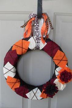 Autumn Yarn Wreath #diy #craft #fall
