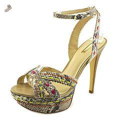 Guess Odonna 2 Women US 8.5 Multi Color Peep Toe Heels - Guess pumps for women (*Amazon Partner-Link)