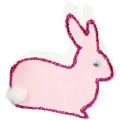 20 x CARDBOARD BUNNY CARDS - Nothing as cute as a Bunny this EASTER