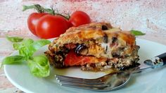 Rakott padlizsán diétásan, muszaka elkészítése Lasagna, Quiche, Breakfast, Ethnic Recipes, Food, Morning Coffee, Essen, Quiches, Meals