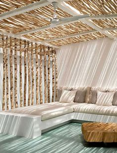 pergola with roof outdoor rooms Outdoor Rooms, Outdoor Living, Outdoor Furniture, Indoor Outdoor, Beach Furniture, Outdoor Lounge, Furniture Ideas, Interior Exterior, Interior Design