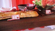 Mesa de sanduíches da festa Pic-Nic (detalhe)