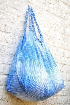 Easy beach bag, tutorial in Dutch with lots of pictures