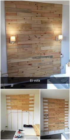 Bring this excellent wall paneling wood pallet design in your house and add your wall paneling with the awe-inspiring feeling impression. It is settled at the best with the wood pallet premium usage right into it where the roughness of the wood pallet has been bringing a beautiful custom appearance.