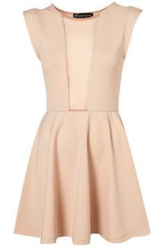 This nude Topshop dress with front mesh insert can be worn bare to show a sexy hint of skin, or with a neon tank/sports bra for a pop of color. $90