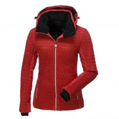 90f64679 Luhta, Livia ski jacket with fur collar, ladies, red Red Ski Jacket,