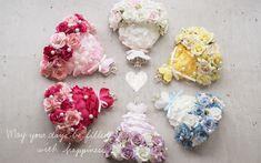 作り方 Flower Crafts, Diy Flowers, Paper Flowers, Handkerchief Crafts, Ribbon Decorations, Flower Circle, Hair Knot, Shops, Types Of Craft