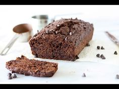 Whole Wheat Chocolate Zucchini Bread Recipe Chocolate Zucchini Bread, Zucchini Bread Recipes, Vegan Desserts, Easy Desserts, Healthy Brownies, Sugar Cravings, Quick Bread, Something Sweet, Sweet Recipes