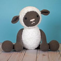 This little crochet lamb pattern is such a fun project! Measuring 10 inches tall sitting down (16 standing up!) it is the perfect size to ...