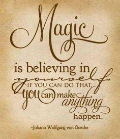 believing in yourself...
