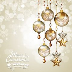 Christmas greeting cards golden balls hanging light background-Transparency blending effects and gradient mesh-EPS 10 The file includes: -1 vector editable -JPGRaster50005000 high definition