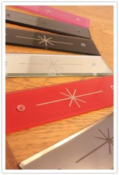 Kind Designs range of fingerplates - choose from a bright splash of colour or a classic and sophisticated bevelled mirror