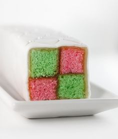 Battenburg cake- great for Christmas