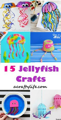roundup jellyfish kid craft - jellyfish kids craft - ocean kids craft - crafts for kids- kid crafts - acraftylife.com #preschool