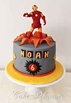 Another awesome Iron Man Cake Marvel Iron Man Pinterest