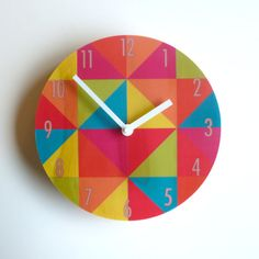 Objectify Bright Grid Wall Clock от ObjectifyHomeware на Etsy