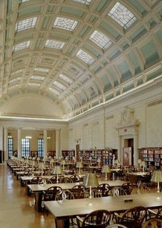 Inside Widener Library at Harvard.