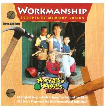 """WORKMANSHIP album has """"Books of the Bible"""" song on it which we use each week to learn the Bible books."""