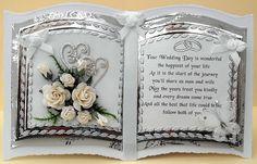 61 Super Ideas For Wedding Card Handmade Photo Wedding Day Cards, Wedding Cards Handmade, Wedding Anniversary Cards, Wedding Sayings, Handmade Cards, Wedding Ideas, Pinterest Cards, Confirmation Cards, Pop Up Card Templates