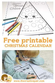 free printable christmas calendar