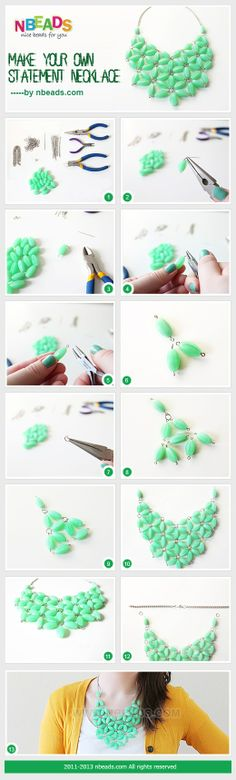 Make Your Own Statement Necklace by Amanda Wong   Project   Jewelry / Necklaces   Kollabora