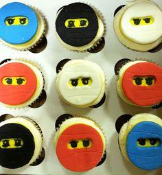 Items similar to 12 LEGO Ninja Cupcake toppers made of edible fondant . Ninja Birthday, Birthday Ideas, Cupcake Birthday Cake, Cupcake Cakes, Custom Cake Toppers, Cupcake Toppers, Ninja Lego Cake, Ninja Cupcakes, Ninja Party