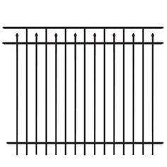 shop freedom black aluminum fence panel common 60in x 72in