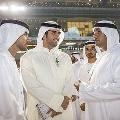 Zayed bin Maktoum bin Rashid Al Maktoum, Mohammed bin Maktoum bin Rashid Al Maktoum, Hasher bin Mohammed bin Thani Al Maktoum y Rashid bin Hamdan bin Rashid Al Maktoum, DWC, 28/03/2015. Vía: mohammedbinmaktoum