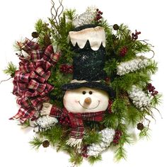 A personal favorite from my Etsy shop https://www.etsy.com/listing/475884360/indoor-outdoor-snowman-wreath-christmas