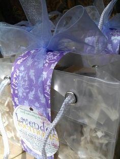 Soap Sampler Tote.... 6 half bars in a reusable gift tote. Handles too!