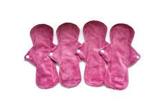 Set of 4 pads 10 1/2 Long Minky Menstrual Sanitary Cloth