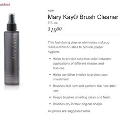 Amazing! New Mary Kay makeup brush cleaner! Only $10!