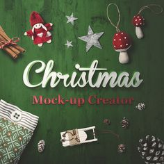 Premium quality, based on professional photos Christmas Mock-Up Creator.This file allows you easily create unique, eye catching Christmas Holiday cards, banners or wallpapers. Just drag and drop any item on stage, move, and scale them as you want, chang…