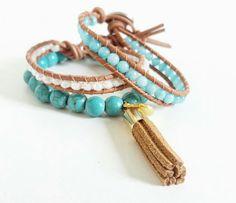 Mix de pulseiras turquesa