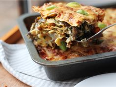 Roast Vegetable Lasagne With Spinach and Ricotta | Genius Kitchen