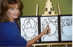 """Here's author/illustrator Janan Cain demonstrating how to add expressions to the trio of faces shown in the """"Expressing Emotions"""" script/presentation plan. For this and other resources, see the """"Teachers"""" tab on the parentingpress.com top menu."""