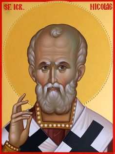 Άγιος Νικόλαος / Saint Nicholas Religious Images, Religious Icons, Religious Art, Holly Pictures, Santa Pictures, Old Fashion Christmas Tree, Retro Christmas, Byzantine Icons, Byzantine Art