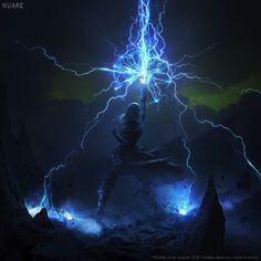 ArtStation - Fingers of the Mountain, Nuare Studio Dark Fantasy Art, Fantasy Artwork, Fantasy World, Fantasy Inspiration, Character Inspiration, Fantasy Character Design, Character Art, Lightning Powers, Elemental Magic