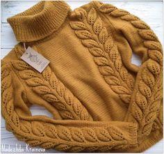 Los patrones simples de los pantalones femeninos para un verano Crochet Jumper, Sweater Knitting Patterns, Knitting Designs, Baby Knitting, Knit Crochet, Knitwear Fashion, Knit Fashion, Pull Torsadé, Pullover Design