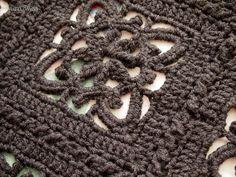 yarnaway: a crochet scrapbook: heather renaissance throw - update