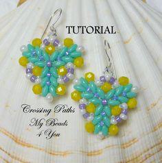 PDF Tutorial Beadwoven Earrings SuperDuo Tutorial by mybeads4you, $6.00