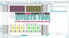 New Silhouette Studio V3 'Shader Effects' Tool Tutorial ~ Silhouette School